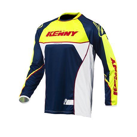 maillot cross kenny titanium 2015 bleu jaune en vente sur a2r. Black Bedroom Furniture Sets. Home Design Ideas