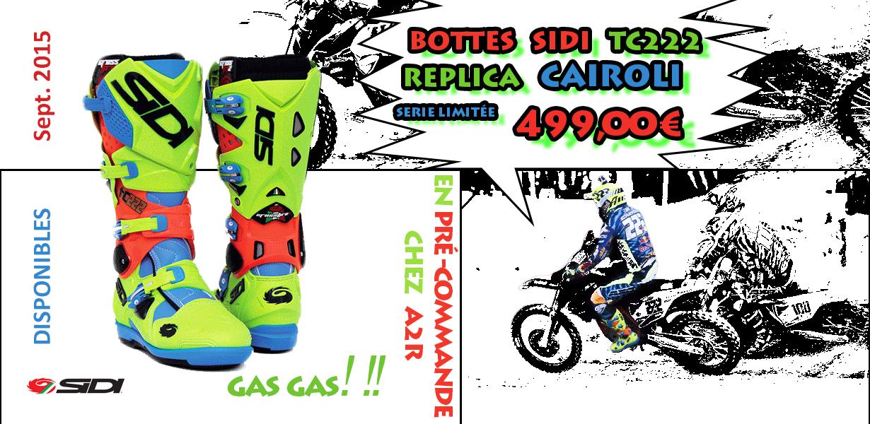 Bottes Moto Cross Sidi CROSSFIRE 2 SRS Serie Limité TC222 Cairoli Replica - PRE COMMANDE